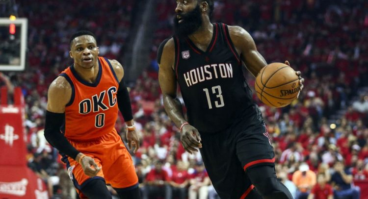 Russell Westbrook (Left) and James Harden (Right) | Before team up