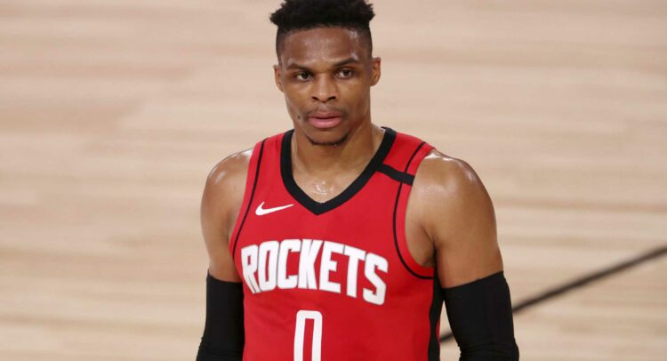 Russell Westbrook during rockets nba game