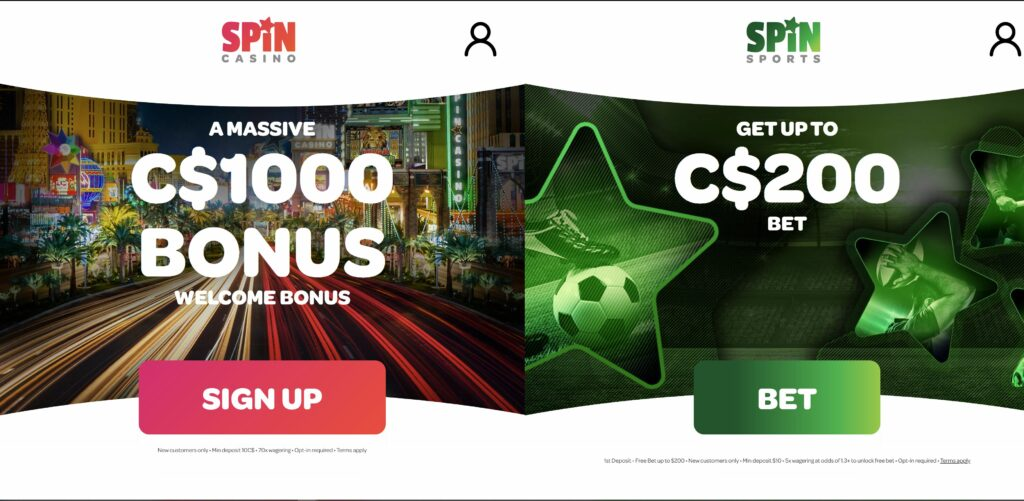 Spin palace welcome bonus