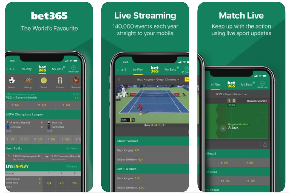 image of bet365 betting app