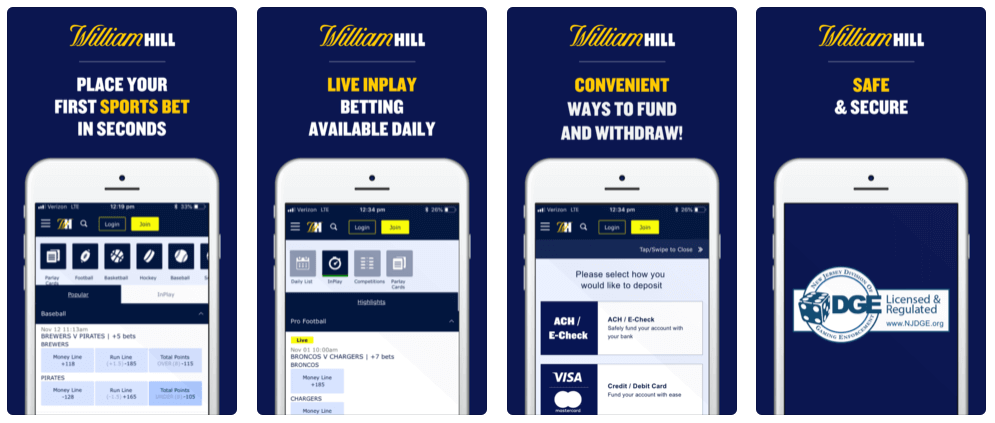 image of william hill betting app