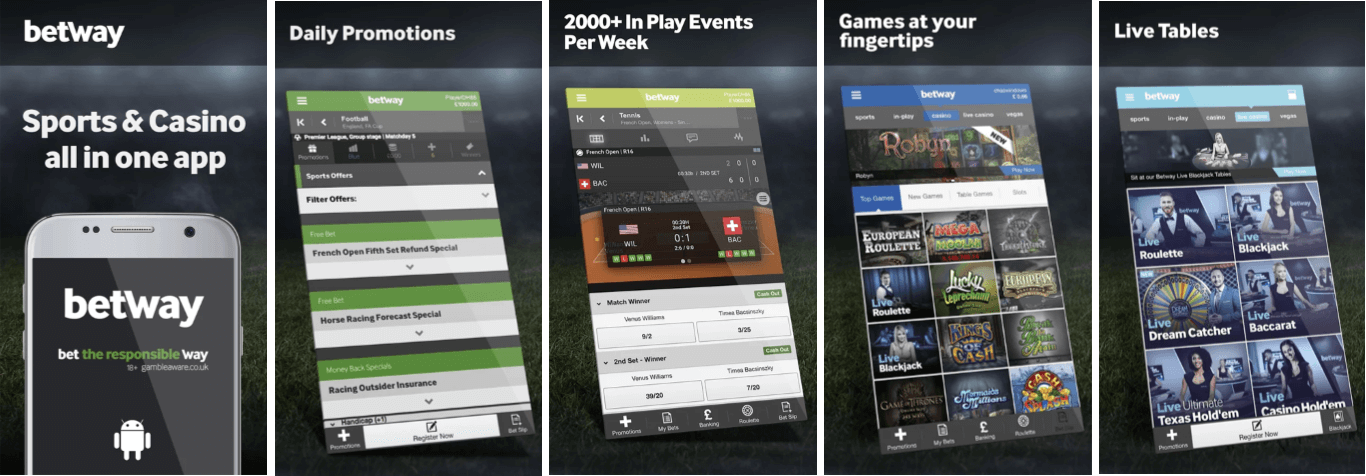 image of betway betting app